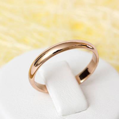 R1-2296 - Обручальное кольцо розовая позолота, 17.5 р.