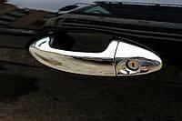 Накладки на ручки Ford Fiesta (2008-) 4 нерж. Omsa