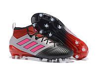Футбольные бутсы adidas ACE 17.1 PureControl FG Silver/Red/Core Black, фото 1