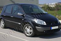 Накладки на зеркала Renault Scenic (2003-2009) (Abs-хром.) 2 шт- Omsa