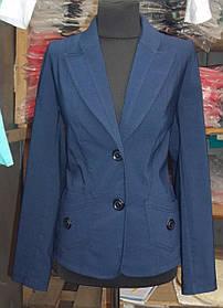 Пиджак  женский большого размера Синий