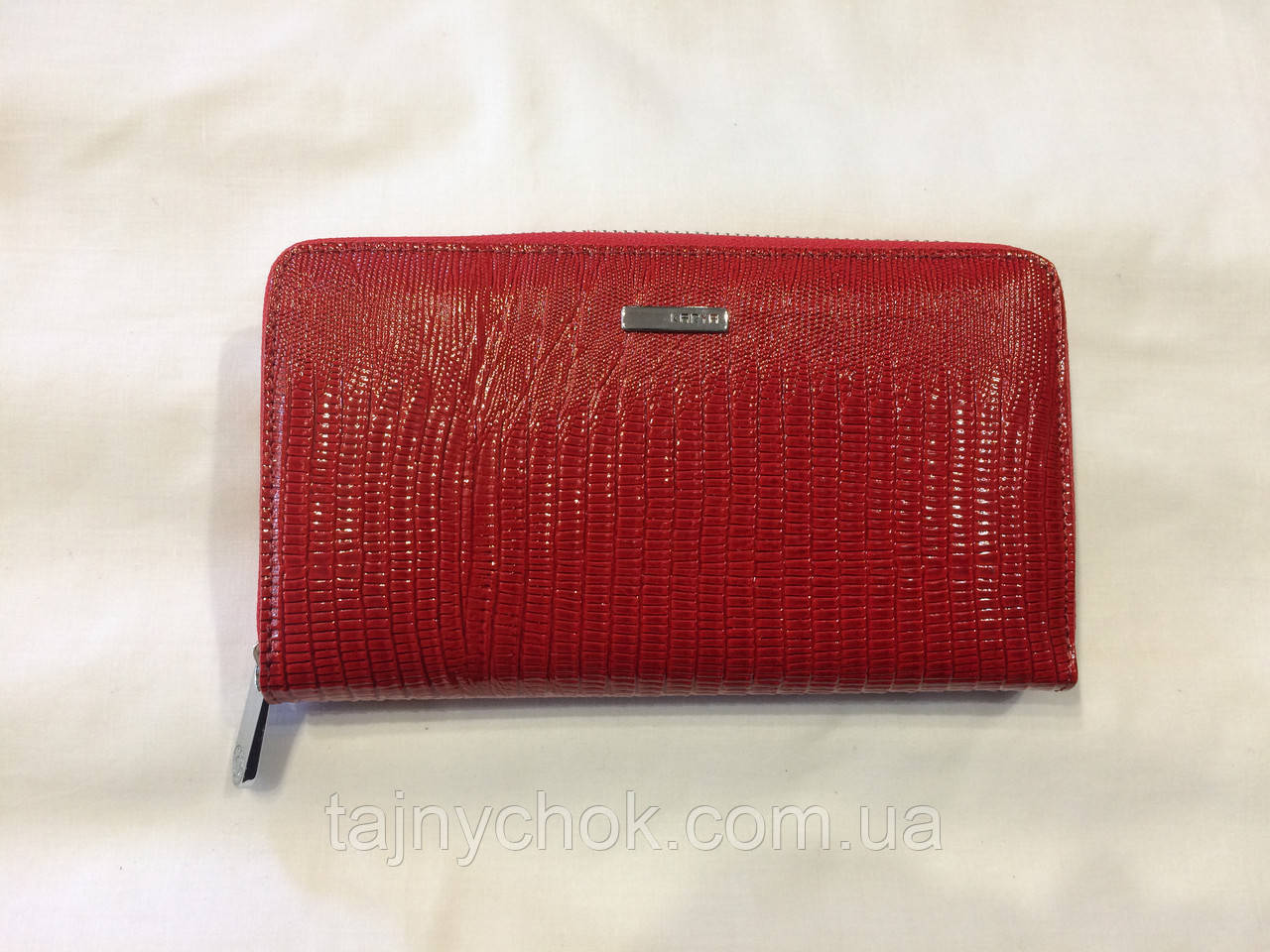 Красный кожаный кошелёк Karya