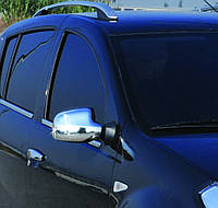 Накладки на зеркала Dacia, Renault Logan II (2008+) нерж. 2 шт. Omsa