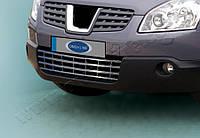 Защита переднего бампера Nissan Qashqai (2007-2010) нерж. Omsa