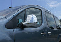 Накладки на зеркала Peugeot Partner II (2008-) (Abs-хром.) 2 шт- Omsa
