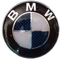 Эмблема BMW 82 мм выс. качества карбон синий