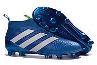Футбольные бутсы adidas ACE 16+ PureControl FG Shock Blue/Solar Slime/White, фото 1