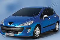 Накладки на зеркала Peugeot 308 5D,3D,SW,CC (2007-2013) (нерж.) 2 шт- Omsa