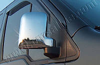 Накладки на зеркала Ford Torneo Connect (2002-2009) (Abs-хром.) 2 шт - Omsa