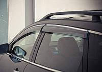 Дефлекторы окон (ветровики) VW Touareg 2010- Хром молдинг AVTM