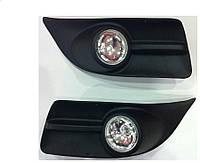 Фары противотуманные Fiat Doblo 2010- (комплект - 2шт) G-plast