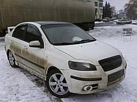 Реснички на фары Chevrolet Aveo T250 (ZAZ Vida) стеклопластик (Orticar)
