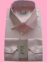 Мужская рубашка с длинным рукавом розового цвета