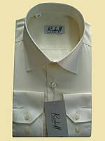 Мужская рубашка цвет шампанского с длинным рукавом