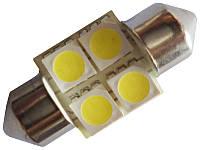 Светодиодная автолампа Cristal 28мм 4 LED 5050 SMD белая