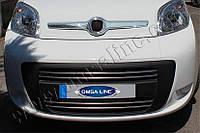 Нижняя кромка капота Fiat Fiorino, Qubo (2007-) (Abs-хром)