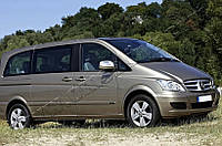 Накладки на зеркала Mercedes Vito W639 FL (2010-2014) (Abs-хром.) 2 шт. (с повтор.поворота)- Omsa