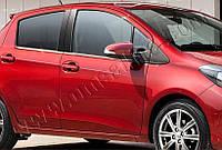 Нижние молдинги стекол Toyota Yaris 5D (2012-) (нерж.) 4 шт