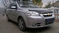 Дефлектор капота, мухобойка Chevrolet Aveo 2006- (седан) VIP
