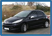 Накладки на ручки Peugeot 207 HB 3D (2006-2012) 2-дверн. нерж. Omsa