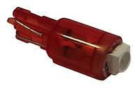 Светодиодная автолампа Cristal T5 1 LED 3528SMD красная