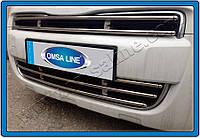 Защита переднего бампера Peugeot Partner II (2012-) нерж. Omsa