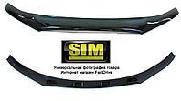 Дефлектор капота, мухобойка Volkswagen Amarok 2010- темный SIM