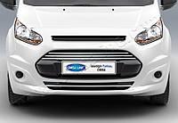Накладки на передний бампер Ford Connect (2014+) (нерж.) 4 шт.