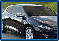 Накладки на зеркала Volkswagen Scirocco HB 3D (2009-2015) (нерж.) 2 шт- Omsa