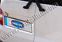 Накладка над номером Volkswagen T5 Transporter (2003-) (нерж.) - 2-дверн.Omsa