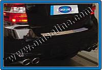 Накладки на задний бампер Mercedes ML W164 (2005-2011) (нерж.) Матированный Omsa