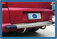 Накладки на задний бампер Mercedes Vito W638 (1996-2003) (нерж.) Omsa