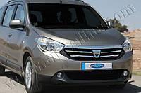 Накладки на решетку радиатора Renault, Dacia Lodgy (2013-) (нерж.) 4 шт