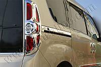 Молдинг дверной Fiat Doblo (2010-) под сдвижную дверь (нерж.) 2 шт