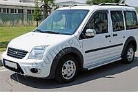 Накладки на зеркала Ford Torneo Connect (2009-) (Abs-хром.) 2 шт - Omsa