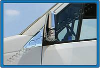 Накладка на стекло-косынку (уголок) Volkswagen Crafter (2006-) 2 шт. нерж. Omsa