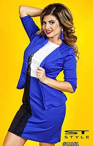 Платье женское ботал + пиджак арт 28263/510-41