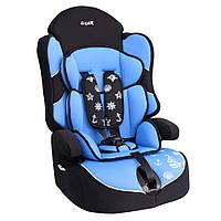 Детское авто кресло SIGER Драйв голубой, 1-12 лет, 9-36 кг, группа 1-2-3