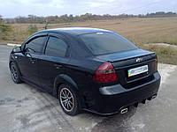 Спойлер Chevrolet Aveo T250 Лип стеклопластик (Orticar)