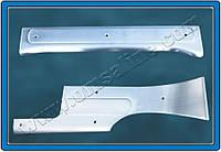 Накладки на внутренние пороги Peugeot Bipper (2008-) (нерж.) 5 шт.