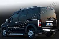 Молдинг дверной Ford Torneo Connect (2002-2014) под сдвижную дверь (нерж.) 1 шт. (Длинная база)