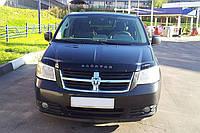 Дефлектор капота, мухобойка DODGE Caravan V c 2007–2010 г.в. VIP