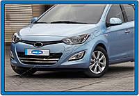 Окантовка противотуманных фонарей Hyundai i20 FL HB 5D (2012-2014) (нерж.) 2 шт.