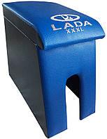 Подлокотник Лада Maxi с вышивкой синий