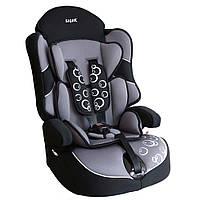 Детское авто кресло SIGER Драйв серый 1-12 лет 9-36 кг группа 1-2-3
