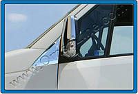 Накладка на стекло-косынку (уголок) Volkswagen Crafter (2012-) 2 шт. нерж. Omsa