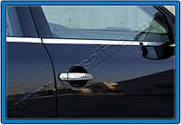 Накладки на ручки Volkswagen Polo V HB 3D (2009-) 2-дв. - с 1-м отверс. под ключ нерж. Omsa