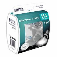 Автолампы Brevia H1 55w Max Power +100% 2шт 12010MPS