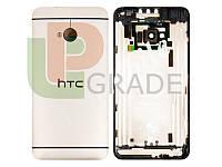 Задняя крышка HTC 801e One M7/801n, золотистая