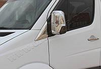 Молдинг стекла-треугольника Mercedes Sprinter W906 (2006-) (нерж.) 2 шт